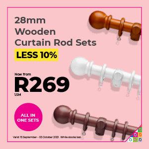 28mm Wooden Poles Sets